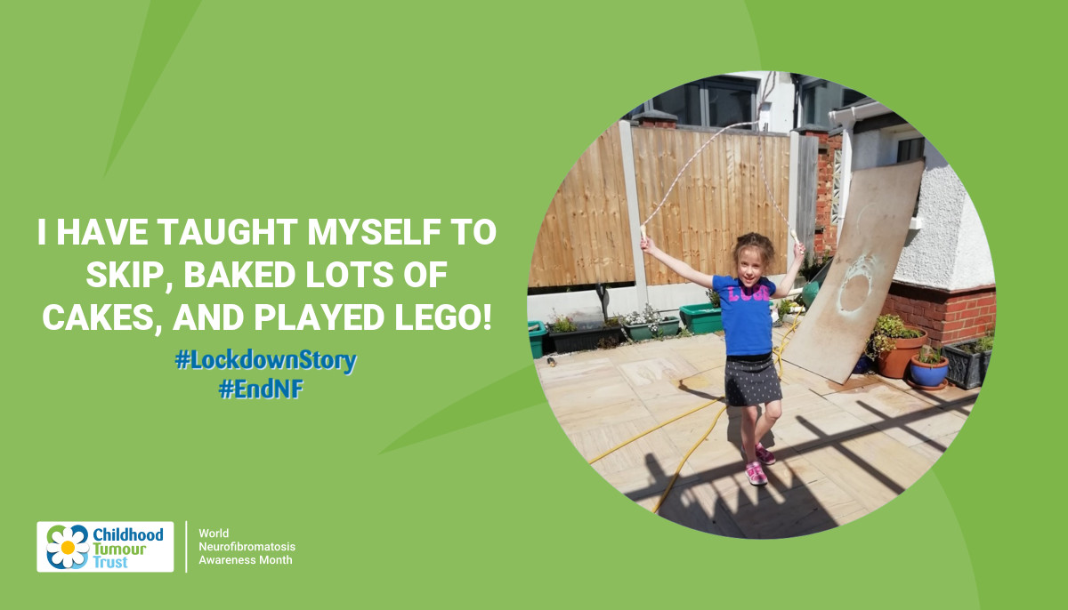 I have taught myself to skip, baked lots of cakes, and played lego!