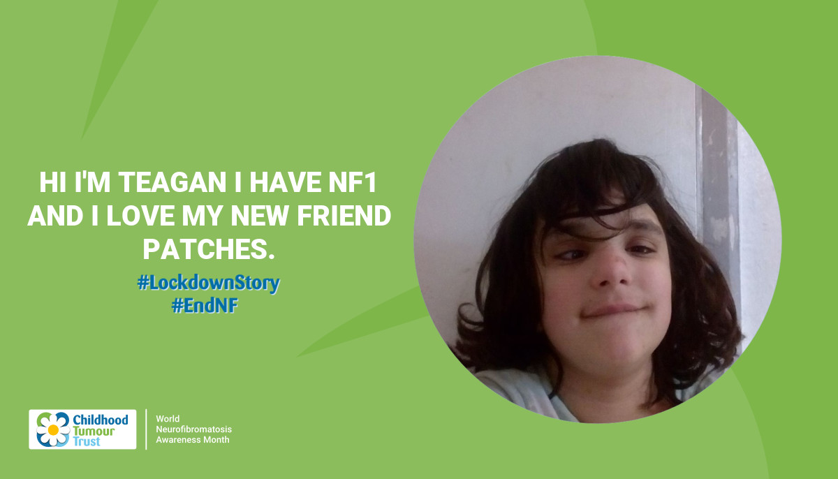 Hi I'm teagan I have NF1 and I love my new friend patches.