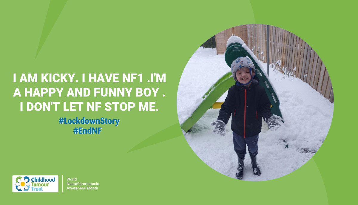 I am Kicky. I have NF1 .I'm a happy  and funny boy . I don't let NF stop me.